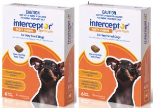 Interceptor Sprectrum X-Small, 6 Tablets