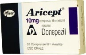 Aricept (Donepezil) 10mg, 100 Tabs