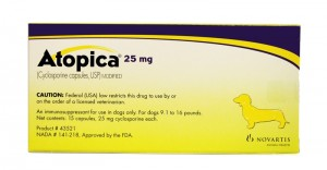 Atopica (Cyclosporine) 25MG, 15 Capsules