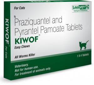 Drontal Feline Generic (Praziquantel,Pyrantel) 20MG+230MG, 4 Tab