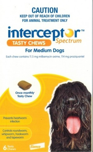 Interceptor Spectrum Medium, 6 Tablets