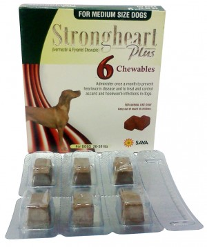 Strongheart Generic Heartgard Plus for Medium Dog 26-50 lbs, 6