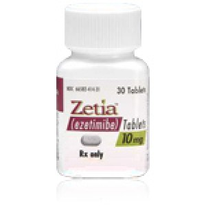 Zetia Generic (Ezetimibe) 10mg, 100 Tablets