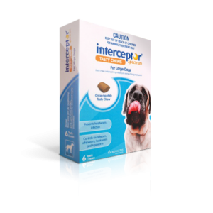 Interceptor Sprectrum Large, 6 Tablets