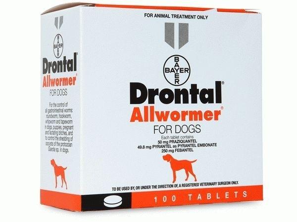 Drontal Allwormer For Dogs 50mg144mg150mg 120 Tabs